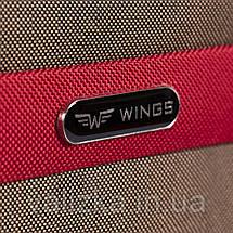 Малый текстильный чемодан синий с расширителем Wings 1605, фото 3