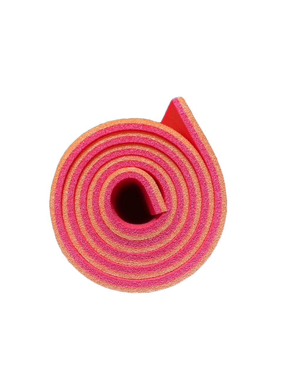 Каремат оранжево-червоний, двошаровий, двокольоровий т. 10мм, розмір 60х180 см, Виробник Україна, TERMOIZOL®