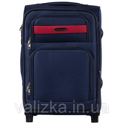 Малый текстильный чемодан синий с расширителем Wings 1605, фото 2