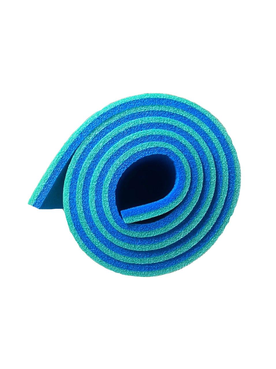 Каремат сине-зеленый, двуслойный, двуцветный т. 10 мм, размер 60х180 см, Производитель Украина, TERMOIZOL®