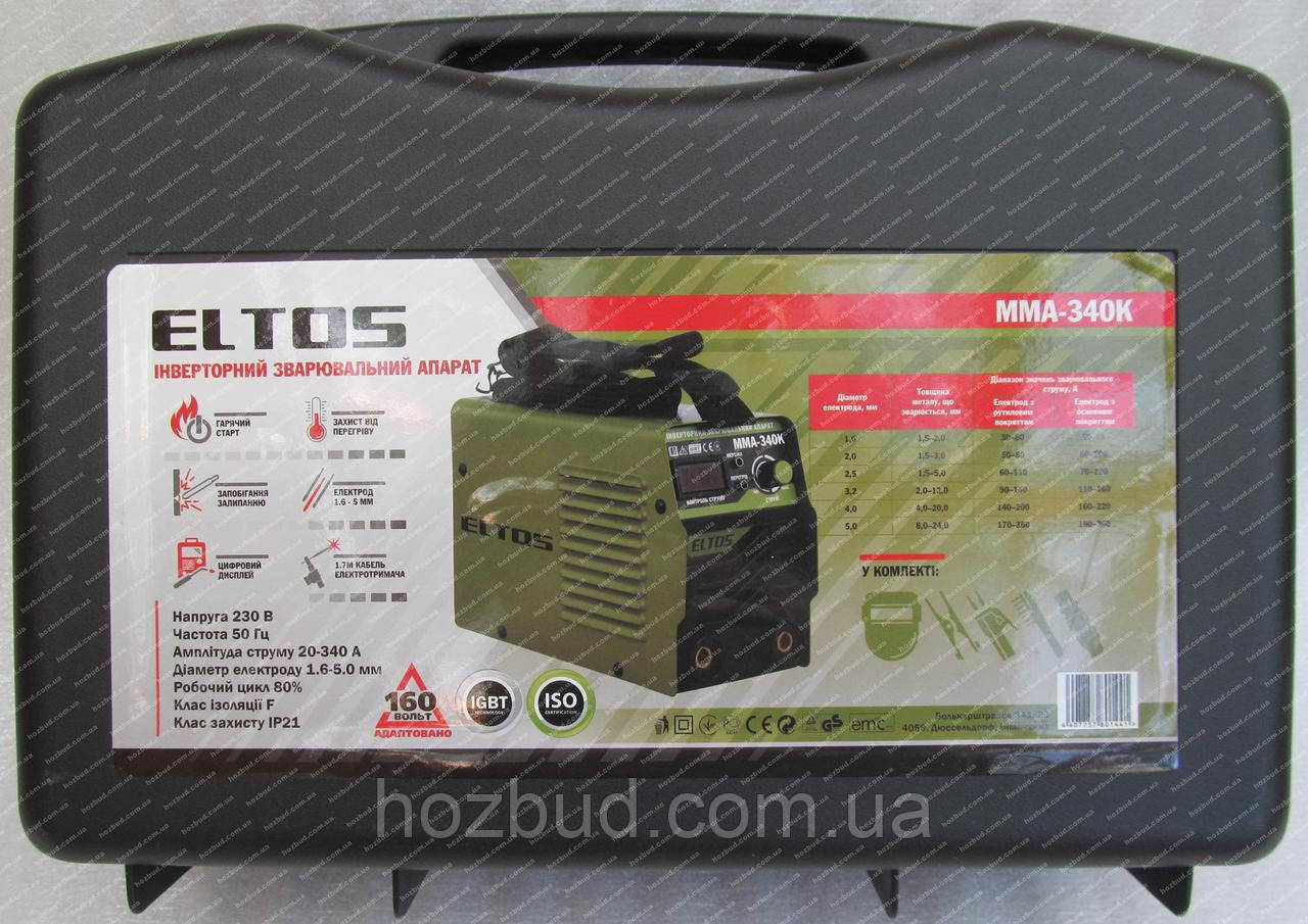 Зварювальний апарат Eltos ММА-340К (дисплей, 340 А)