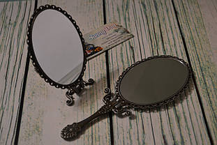 """Заготовка для оформления вышивки """"Зеркало с ручкой"""",  цвет - олово"""