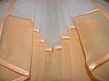 Ламбрекен из шифона на карниз 3 метра №52 Персиковый, фото 2