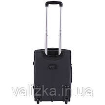 Малый текстильный чемодан темно-серый с расширителем Wings 1605, фото 3