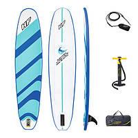 Доска для САП серфинга BESTWAY SUP-БОРД 65336 Голубой (243-57-7 см) | Надувная доска Hydro-Force