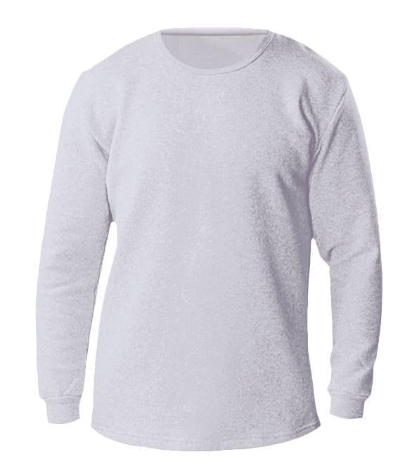 Термо-футболка мужская с длинным рукавом, серый ХL