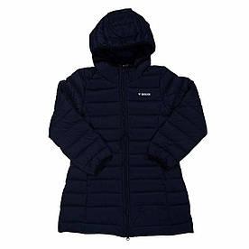 Пальто демисезонное подростковое 7-13 лет для девочки размеры 122-158 ТМ Brugi JE11-956 синее