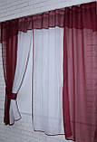 Кухонный комплект №17.  Шторки с ламбрекеном. Цвет бордовый с белым., фото 2