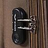 Средний текстильный чемодан черный с расширителем Wings 1605, фото 2