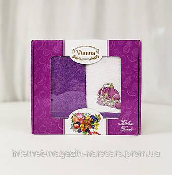 Набор кухонных полотенец Vianna MIX (40x60 - 2 шт) Сливы