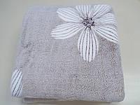 Покрывало микрофибра, Цветы на бежевом фоне (200*220), фото 1