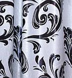 """Ламбрекен ручной выкладки из ткани """"Блэкаут"""" Код 069лш140, фото 3"""