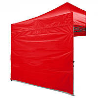 Боковая стенка на шатер - 12 м ( 3 стенки на 3*6 или 4 стенки на 3*3) красная