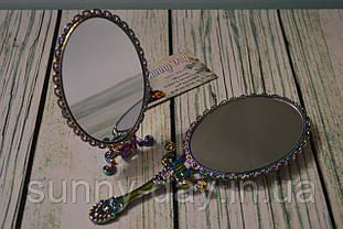 """Заготовка для оформления вышивки """"Зеркало с ручкой"""",  цвет - радужный"""