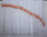 Кухонный комплект . Шторки з ламбрекеном. Цвет белый с персиковым  №062к на карниз 1.5-2м, фото 2