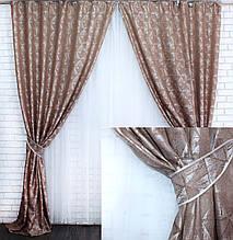 Комплект готовых штор из ткани лён