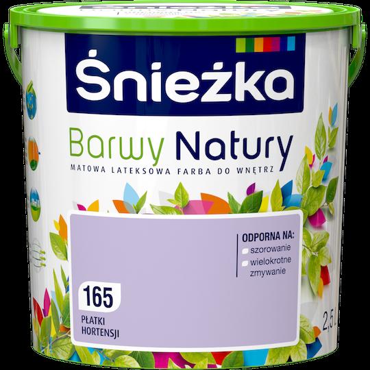 Краска латексная Sniezka Barwy Natury 165Т ЛЕПЕСТКИ гортензии 2.5 л