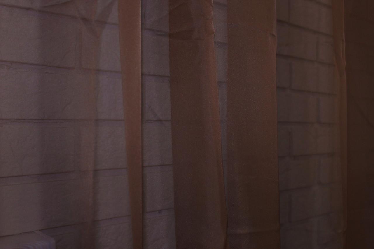 Тюль шифоновая однотонная, цвет темно коричневый