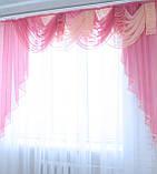 """Ламбрекен 2,4 м. """"Ракушка"""" №5 Колір рожевий з персиковим, фото 2"""