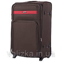Великий текстильний валізу кавовий на 2-х колесах Wings 1605, фото 2