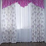 """Комплект ламбрекен со шторами """"Маргарита"""" на карниз 3м. Код 097лш219(розовый), фото 5"""