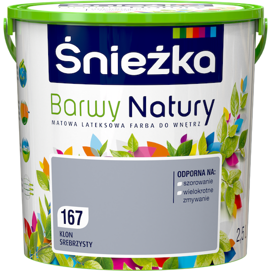 Краска латексная Sniezka Barwy Natury 167Т СЕРЕБРЯНЫЙ КЛЕН 2.5 л
