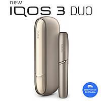 IQOS 3 Duo Золотой - Набор для нагревания табака (Палочки для чистки в комплекте)