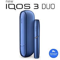 IQOS 3 Duo Синий - Набор для нагревания табака (Палочки для чистки в комплекте)