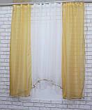 Комплект на кухню, тюль и шторки №51, Цвет янтарный с белым, фото 3