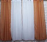 Комплект на кухню, тюль и шторки №38, Цвет теракотовый с белым, фото 4