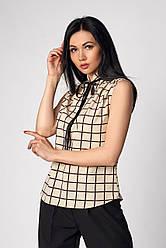 Бежева жіноча блуза без рукавів розмір 42-50