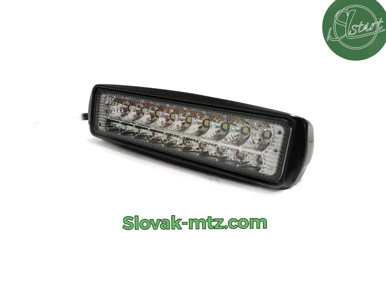Светодиодная LED фара 36Вт  (светодиоды 2w x18шт + з поворотником) Широкий луч