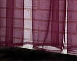 Тюль фатин, однотонный, цвет бордовый. Код 089тф, фото 3
