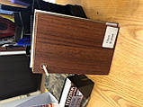 Двери межкомнатные Омис  гладкая глухая экошпон, цвет орех, фото 3