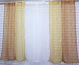 Комплект кухонные шторки с подвязками №54 Цвет кофейный с янтарным, фото 3