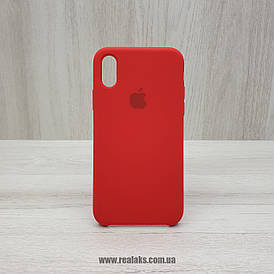 Чехол Silicone Case для Apple iPhone X / Xs red