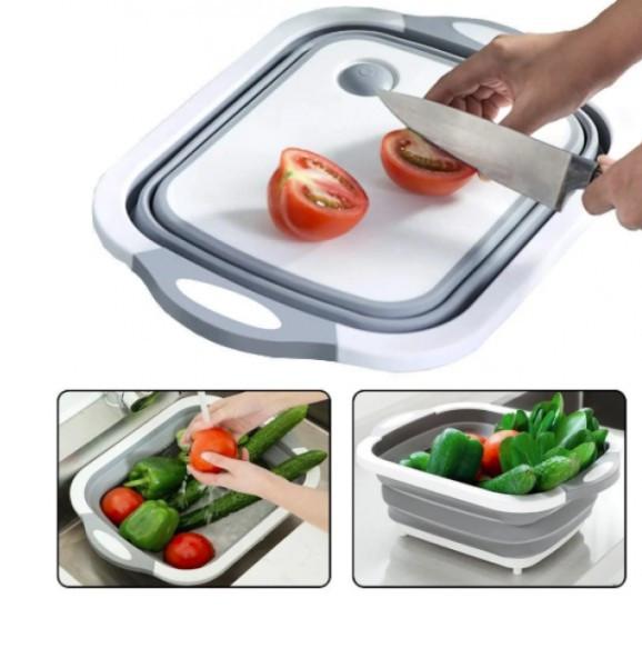 Доска-миска разделочная складная универсальная Kitchen Craft