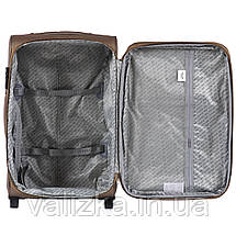 Комплект текстильных чемоданов на 2-х колесах Wings 1605  с расширителем, черного цвета, фото 3