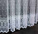 Тюль фатин с вышивкой, цвет белый . Код 472т, фото 2