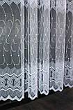 Тюль фатин с вышивкой, цвет белый . Код 472т, фото 5