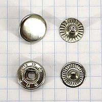 Кнопка альфа 12,5 мм никель Китай a4209 (360 шт.)