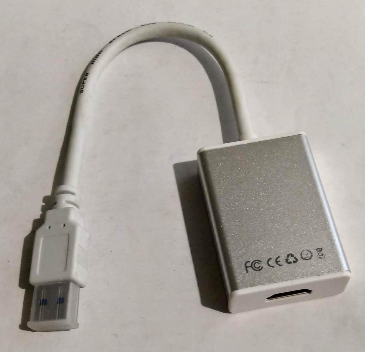 Адаптер перехідник USB\HDMI White
