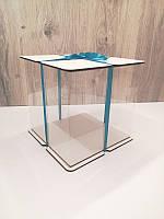 Коробка для торта.Прозора коробка для торта тубус.Упаковка для торта тубус білий 25*25, фото 1