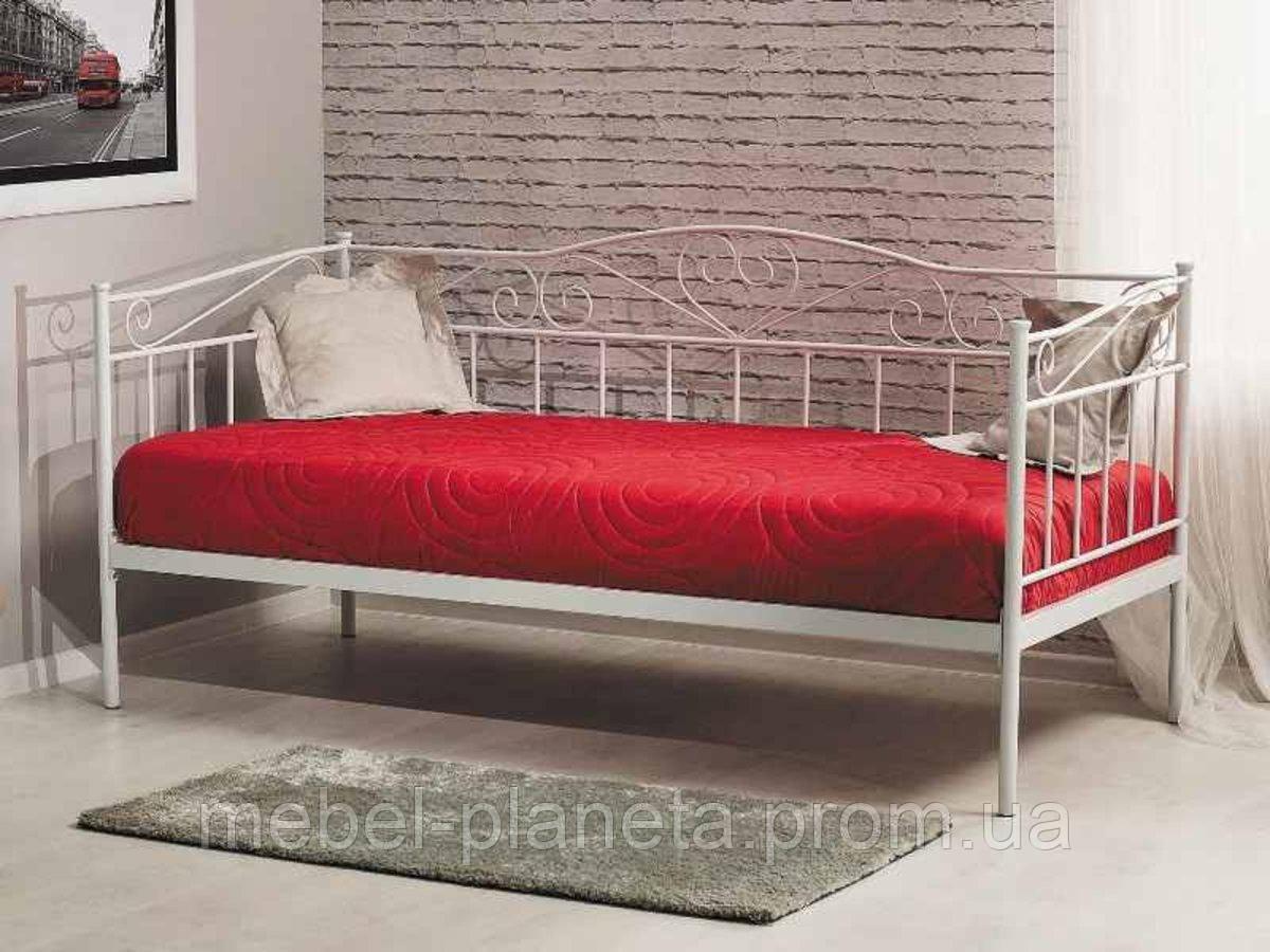 Металева біла ліжко 90х200 BIRMA Signal