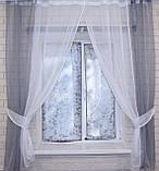 Кухонные шторы (265х170см). На карниз 1-1,5м.. Цвет серый с белым. 017к, фото 2