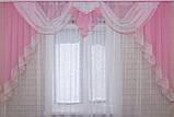 Ламбрекен №52 на карниз 2,5 метра, цвет розовый, фото 2