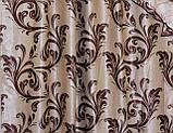 """Ламбрекен ручной выкладки из ткани """"Блэкаут"""" Код 069лш101, фото 3"""