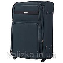 Комплект текстильных чемоданов на 2-х колесах Wings 1605 с расширителем, темно-зеленого цвета, фото 3