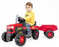 Детский трактор на педалях Dolu DL_8053 с прицепом