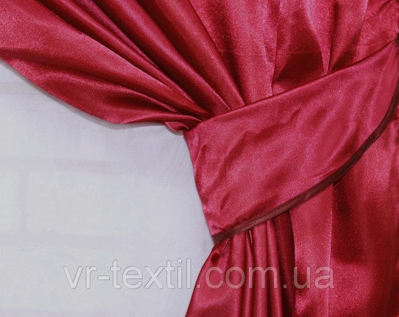 Однотонная ткань атлас. Ширина в рулоне 1,5м. Цвет бордовый. 3ша